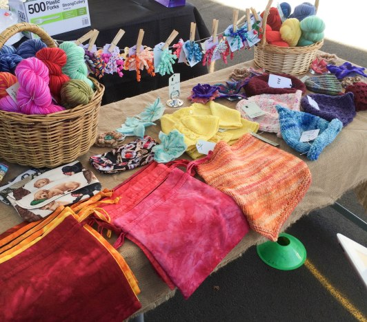 Leura Markets with hair ties